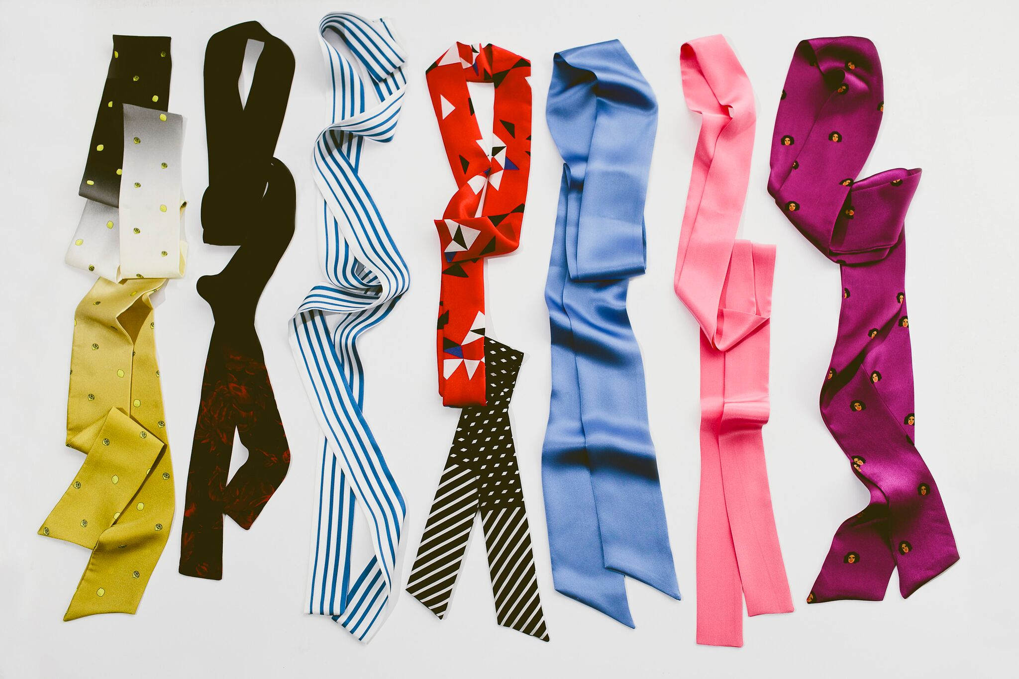 Neckties (aka pussybows) for women and girls that are designed after influential women from history and today.{&amp;nbsp;}(Image @{&amp;nbsp;}Elizabeth Zuluaga for andieanderin)<p></p>
