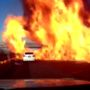 Overturned gas truck causes massive highway explosion
