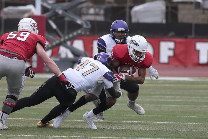 Southern Oregon University Football hosted College of Idaho at Raider Stadium on Saturday. [ // PHOTOS BY: LARRY STAUTH JR]