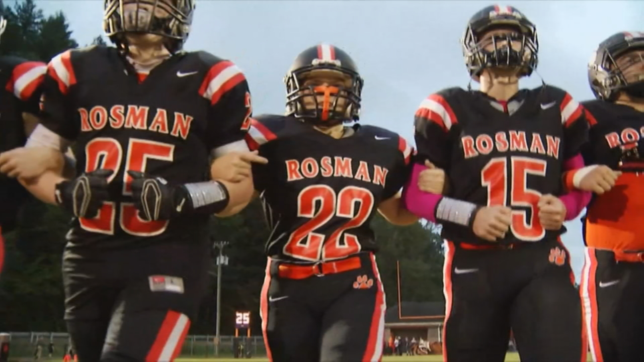 This year, Madison Fisher decided to take a leap of faith and try out for the Tigers football team, and now she's an inspiration to others. (Photo credit: WLOS staff)