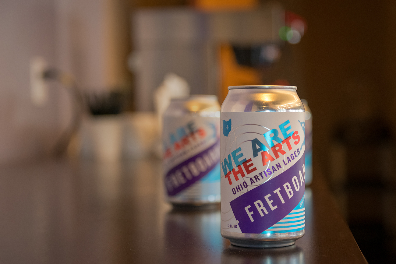 This year, ArtsWave partnered with Fretboard Brewing Company to create the collaboration brew We Are The Arts, a classic Ohio lager brewed with Haus Malts out of Cleveland, and featuring German Mandarina Bavaria hops. / Image: Ryan Strand