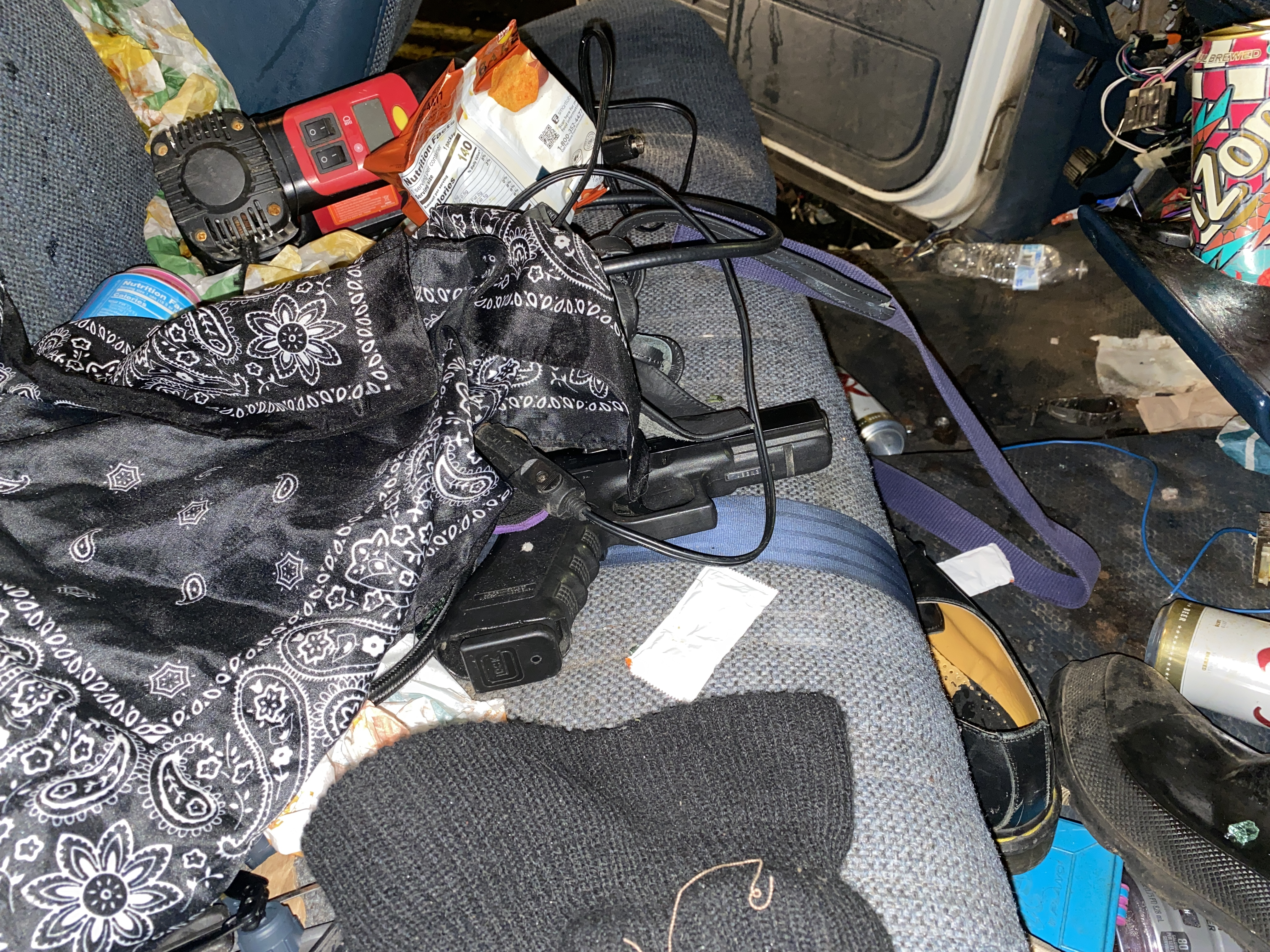 One of two guns police said they found in the suspect's vehicle. (Photo: Portland Police Bureau)