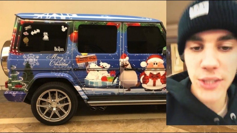 Justin Bieber decorates G-Wagon to prove he\'s in Christmas spirit | WJLA