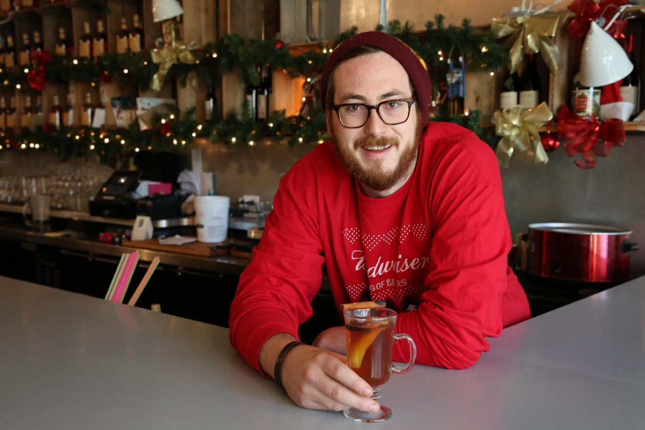 Right now, Paul Taylor is the head elf of Miracle on 7th Street - the Christmas-themed pop-up bar you've probably been seeing on your cool friend's instagram account. However, for most of the year, Taylor is the head bar manager at Drink Company at the 7th Street restaurants - Mockingbird Hill, Southern Efficiency and Eat the Rich. (Amanda Andrade-Rhoades/DC Refined)