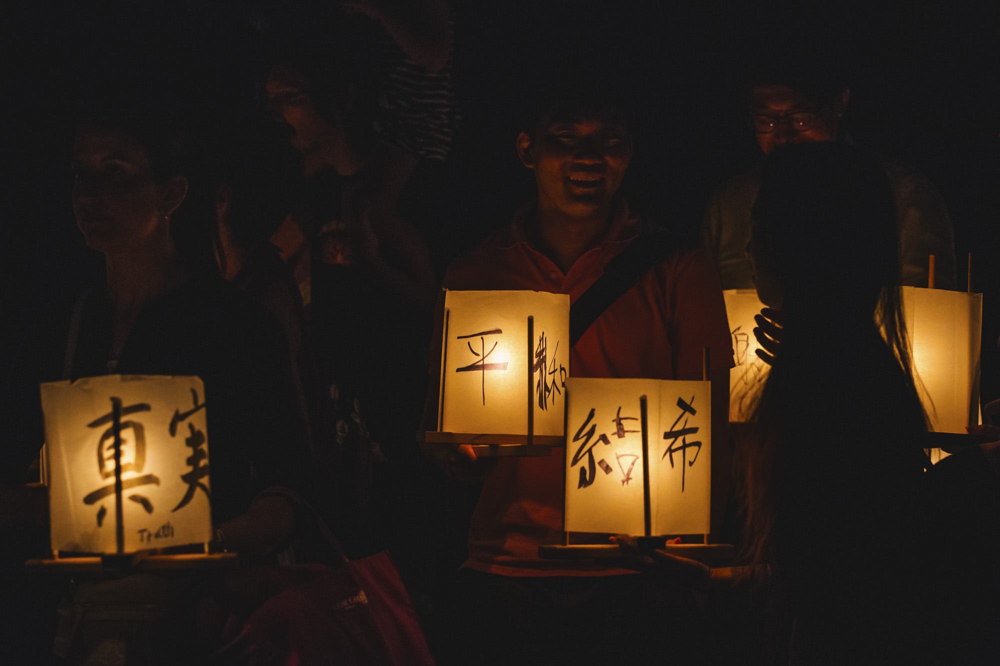 Over 1,000 candle-lit lanterns carrying messages of peace and hope floated across Green Lake during From Hiroshima To Hope, a commemorative ceremony that marks the 73rd anniversary of the atomic bombings of Hiroshima and Nagasaki. (Sunita Martini / Seattle Refined)