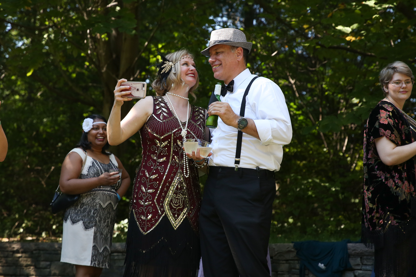 The Washington National Cathedral came to life with a blast from the past this weekend as Dardanella hosted its bi-annual Great Gatsby picnic. Guest dressed up in period costumes and enjoyed period music, popular games of the era and danced like it was 1925. (Amanda Andrade-Rhoades/DC Refined)