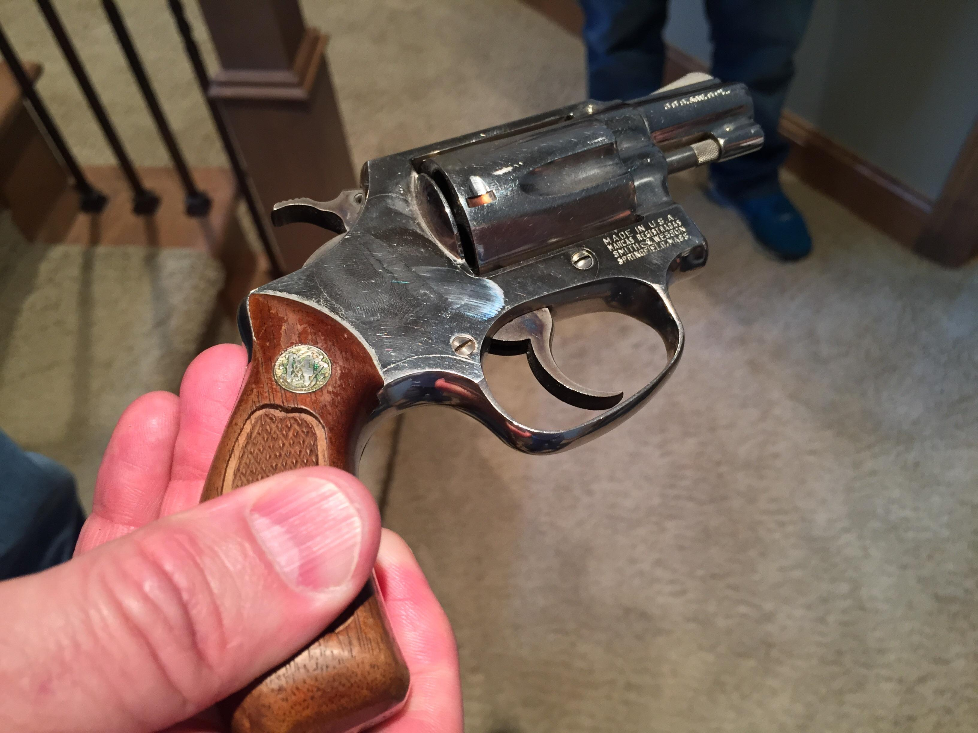 Greg Erceg had this revolver in his nightstand on Wednesday morning.