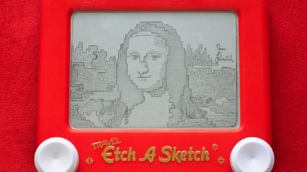 Etch A Sketch artist recreates famous masterpieces