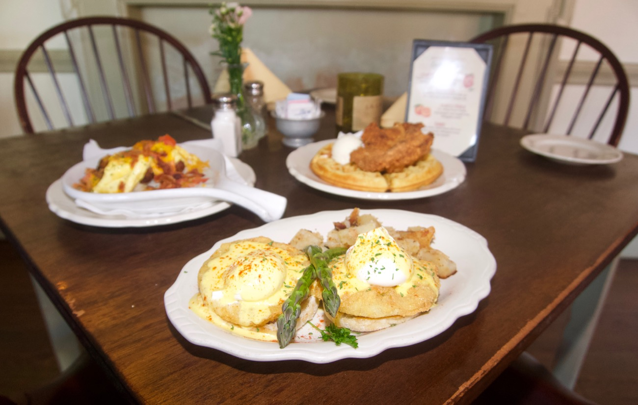Southern eggs Benedict, sausage biscuits and gravy, and chicken and waffles / Image: Brian Planalp // Published: 6.18.18<p></p>