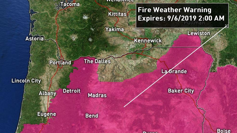 Red flag warning issued for Mt. Hood National Forest, Central Oregon Cascade Foothills