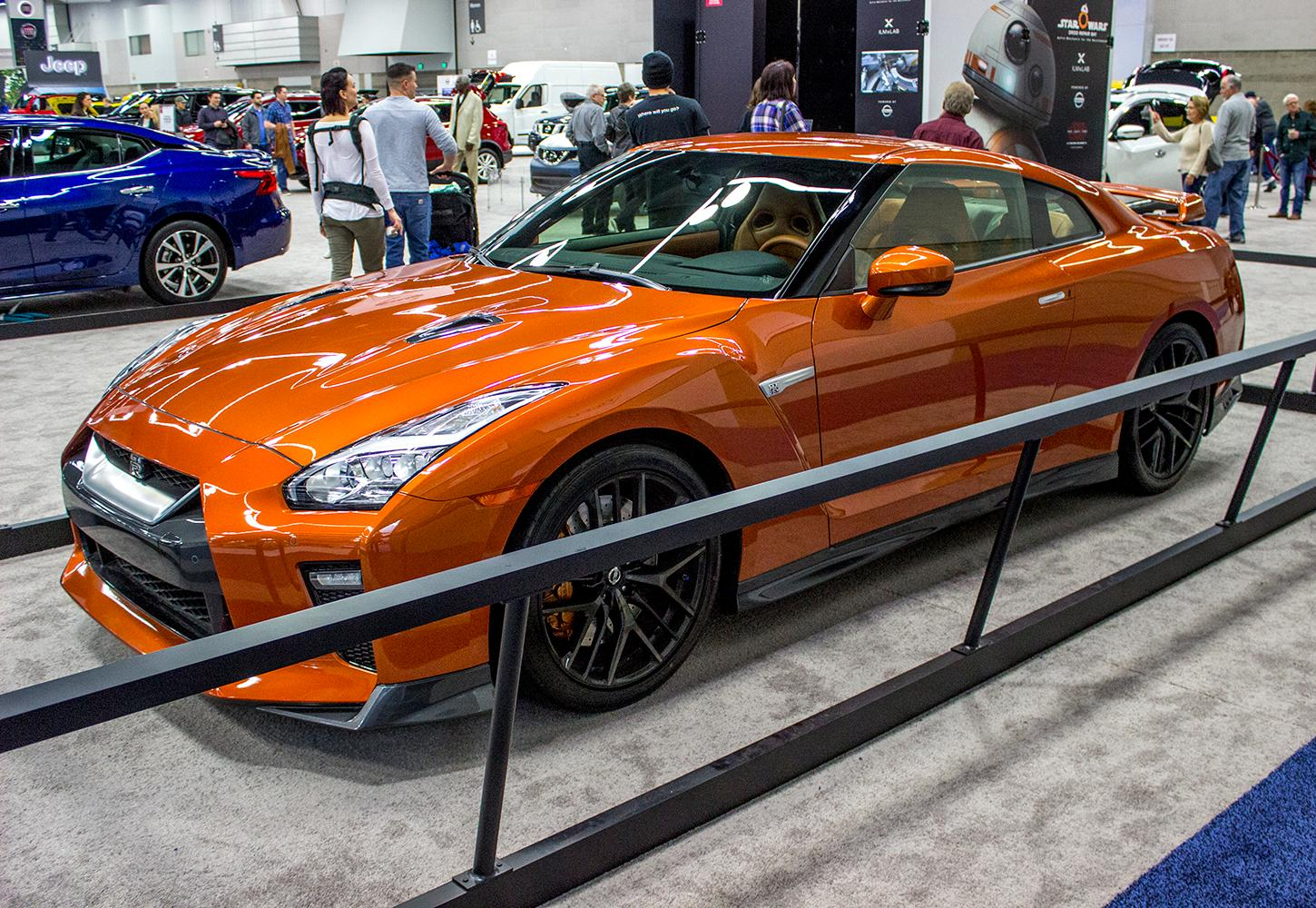 Nisssan - The Portland International Auto Show began at the Oregon Convention Center on Jan. 25, 2018. The event drew prospective buyers and others who enjoyed looking at and comparing vehicles. Photo by Amanda Butt