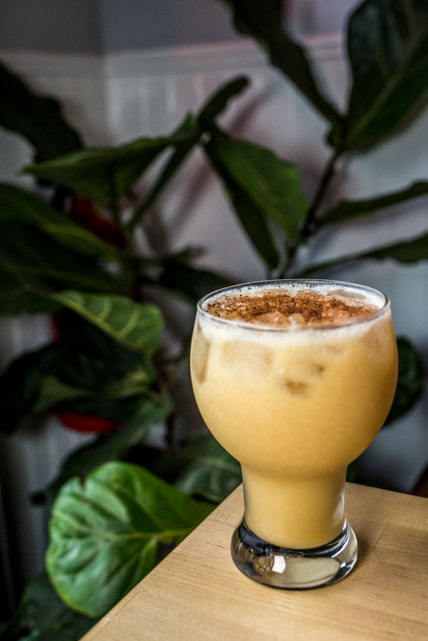 House of Pain: Navy strength rum, spiced rum, orange, pineapple, mongo, coconut cream, and nutmeg / Image: Catherine Viox{ }// Published: 7.3.20