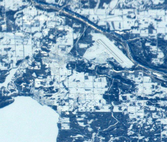 Hello Cold Lake, Alberta. My youngest son was born here in 2001.  (Photo & Caption: Mike Hopkins, NASA)