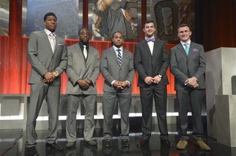 Heisman Trophy finalists at the 2013 Home Depot College Football Awards show in Orlando, Fla., Thursday, December 12, 2013.