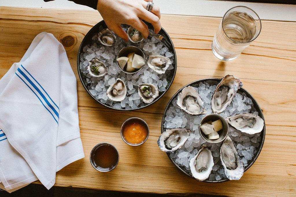 Chelsea Farms Oyster Bar set out create a space to sell and celebrate the local bounty of the tides with emphasis on their own Chelsea Gems, and featured seafood from other local farmers. (PHOTO: OLYSOCIAL and Poppi Photography)