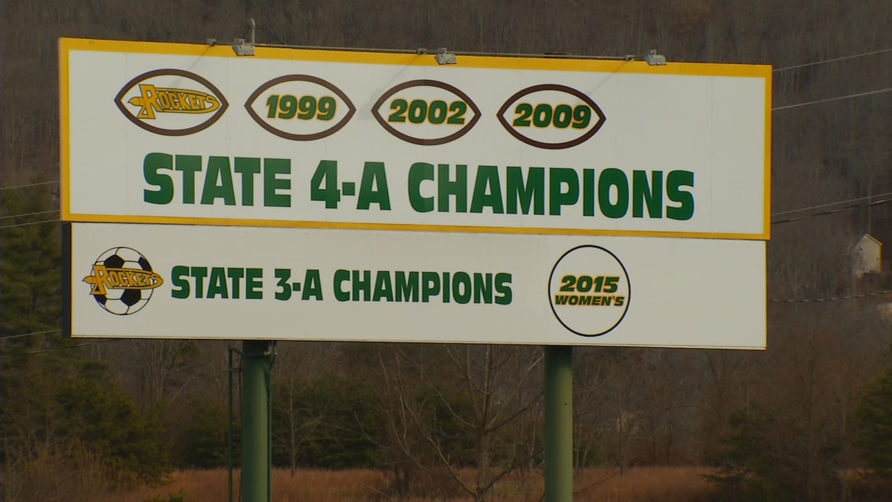 AC Reynolds alumni have turned to social media to root for the Rockets - a team on the verge of a state championship. The team leaves for Durham Saturday morning on their quest for another title. (Photo credit: WLOS Staff)