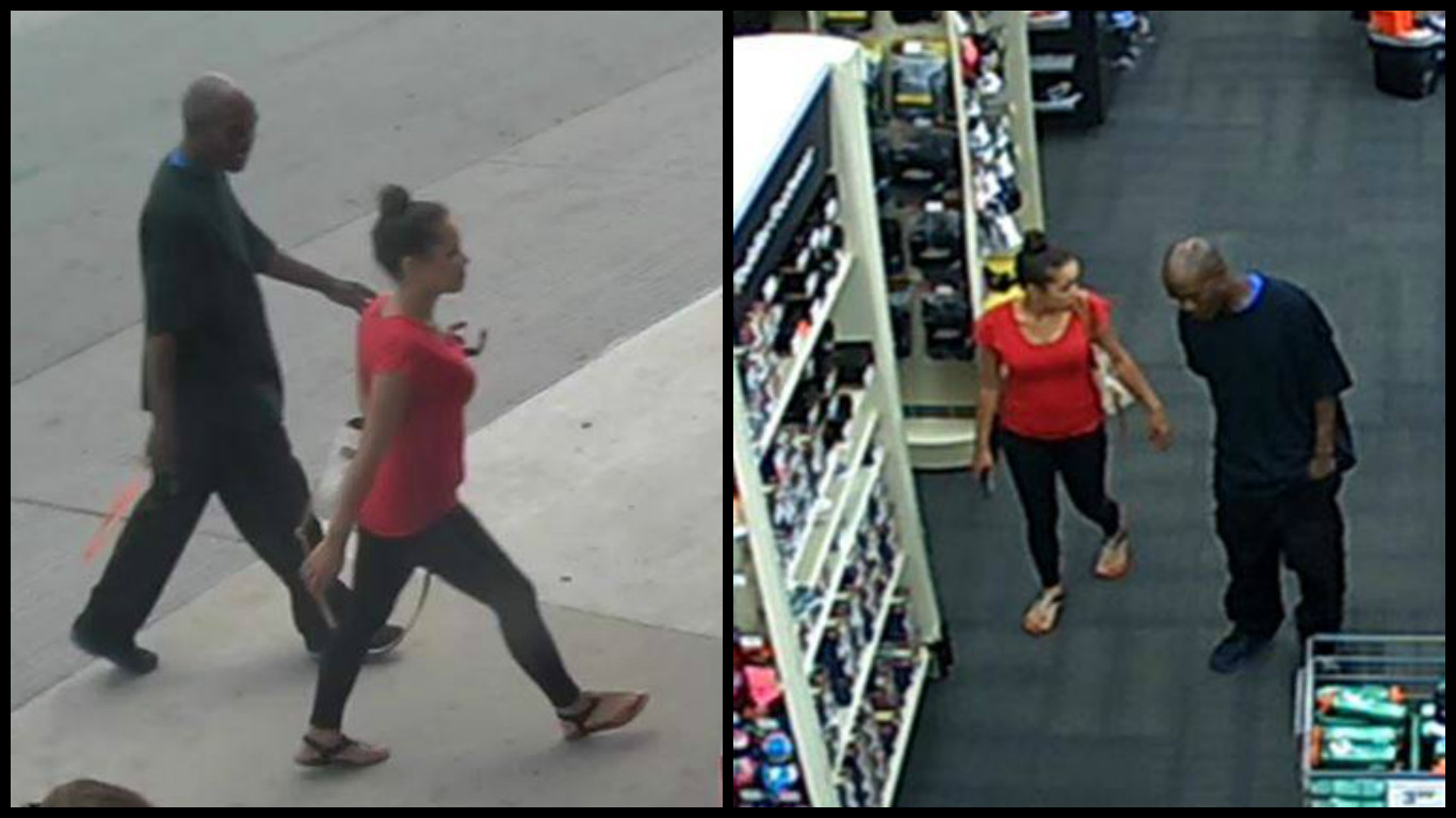 Surveillance photos show three women and one man that police say were involved in a shoplifting at a metro business. (Oklahoma City Police Department)