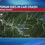 Woman dies in Wednesday night Morgan County car crash