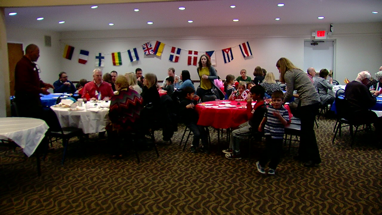 Foods from different countries brought families together Sunday night in Montgomery. (WKRC)
