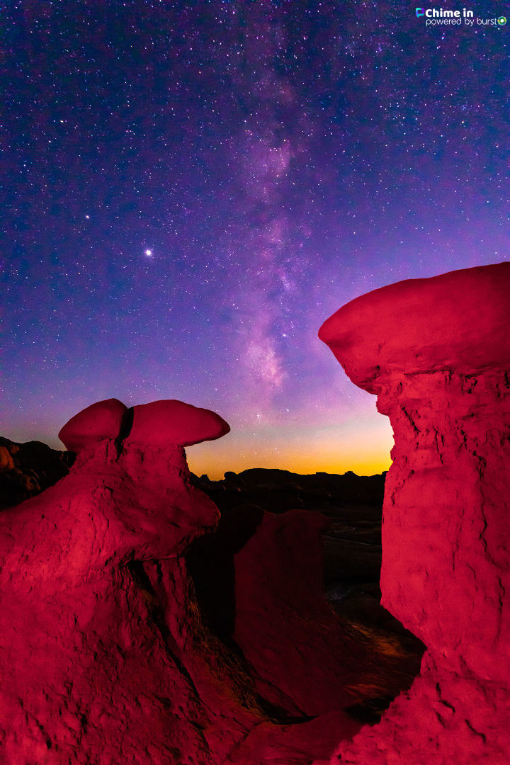 Milky Way shot in Goblin Valley. (Kelly Branan)