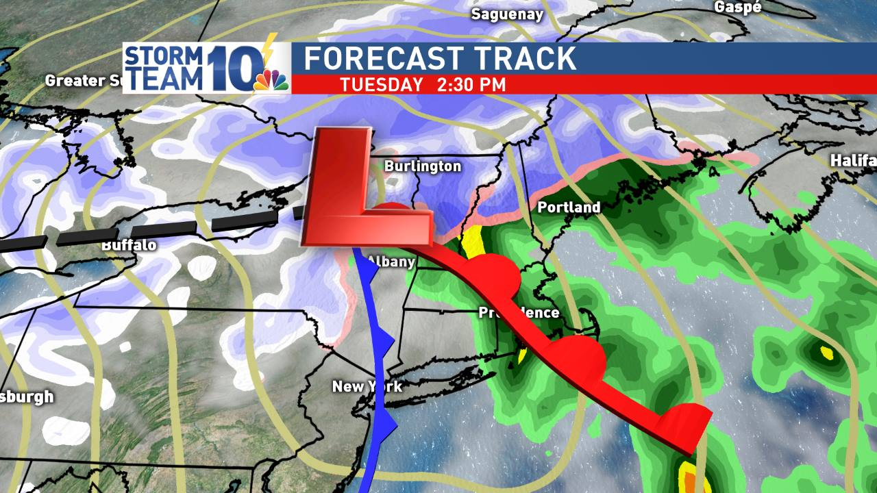 Tuesday's storm tracks to our NW placing us on the mild side this time around.<p></p>