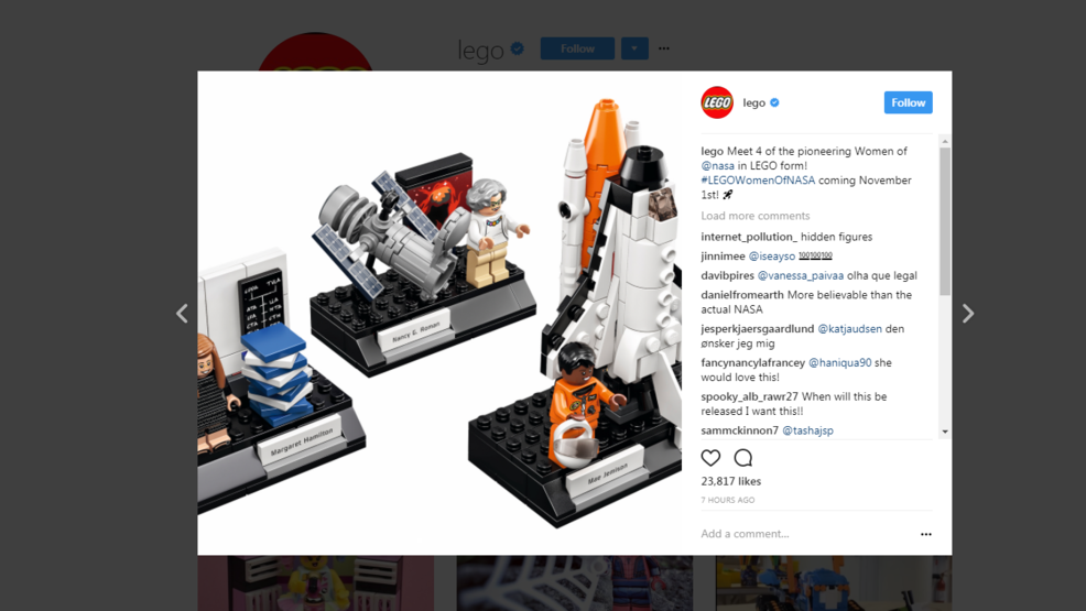 LEGO creates Women of NASA set