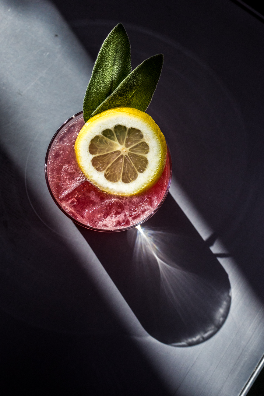 Ladder Lemonade: pomegranate lemonade, sage-infused vodka, pomegranate, and lemon / Image: Catherine Viox // Published: 11.7.20