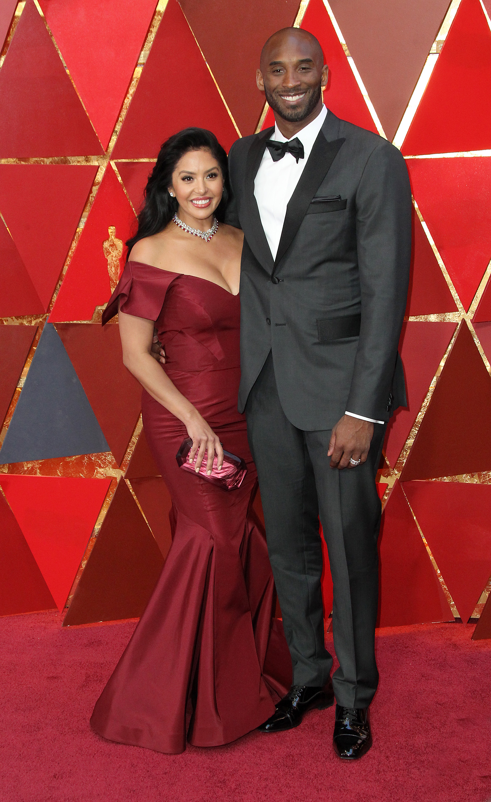 Vanessa Laine Bryant and Kobe Bryant arrive at the 90th Annual Academy Awards (Oscars) held at the Dolby Theater in Hollywood, California. (Image: Adriana M. Barraza/WENN.com)<p></p>