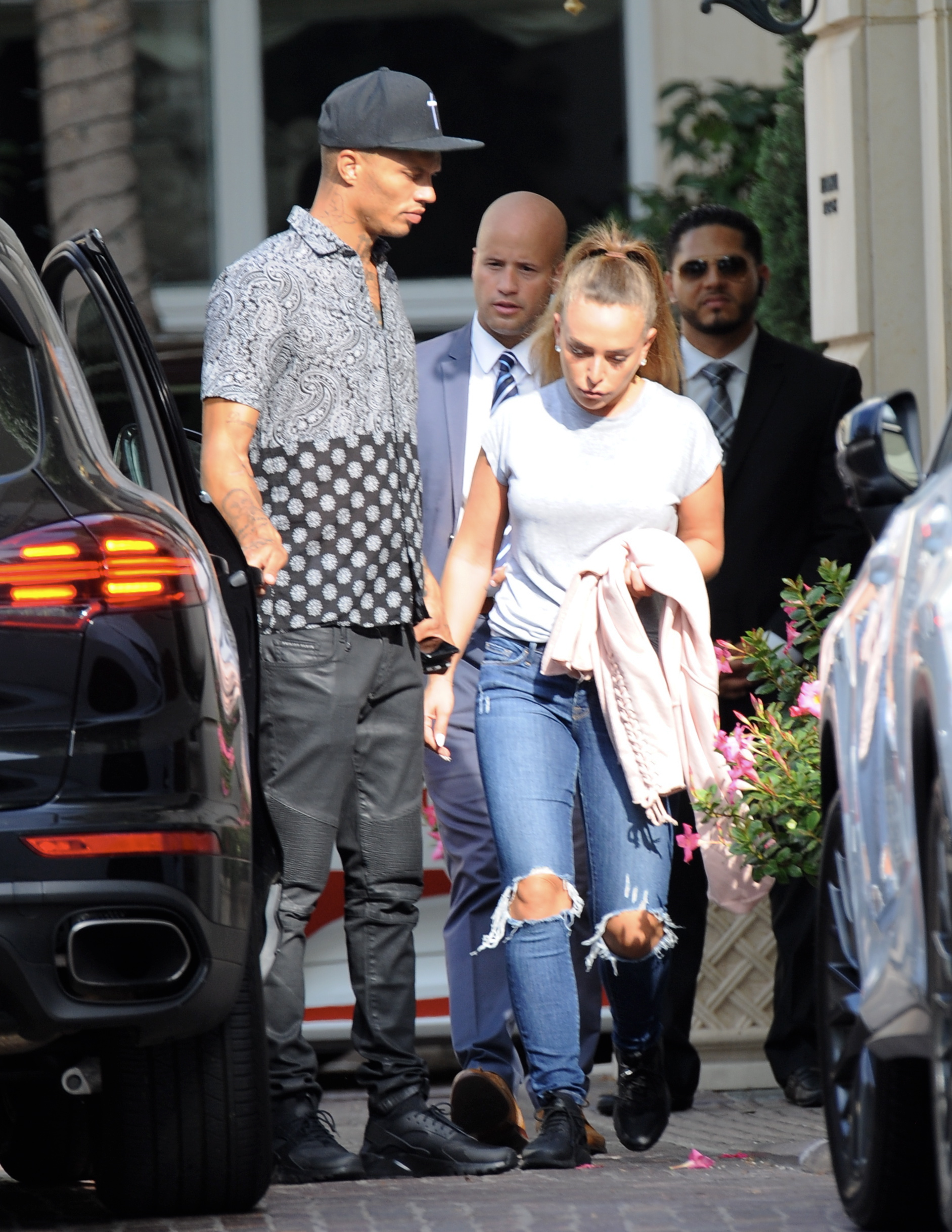 Model Jeremy Meeks and fiancee Chloe Green buying 4 cartloads of goodies at Target for Hurricane Harvey relief. Chloe was seen wearing her new engagement ring while going to a Hurricane Harvey donations party in Los Angeles, California.                                    Featuring: Jeremy Meeks, Chloe Green                  Where: Los Angeles, California, United States                  When: 02 Sep 2017                  Credit: WENN