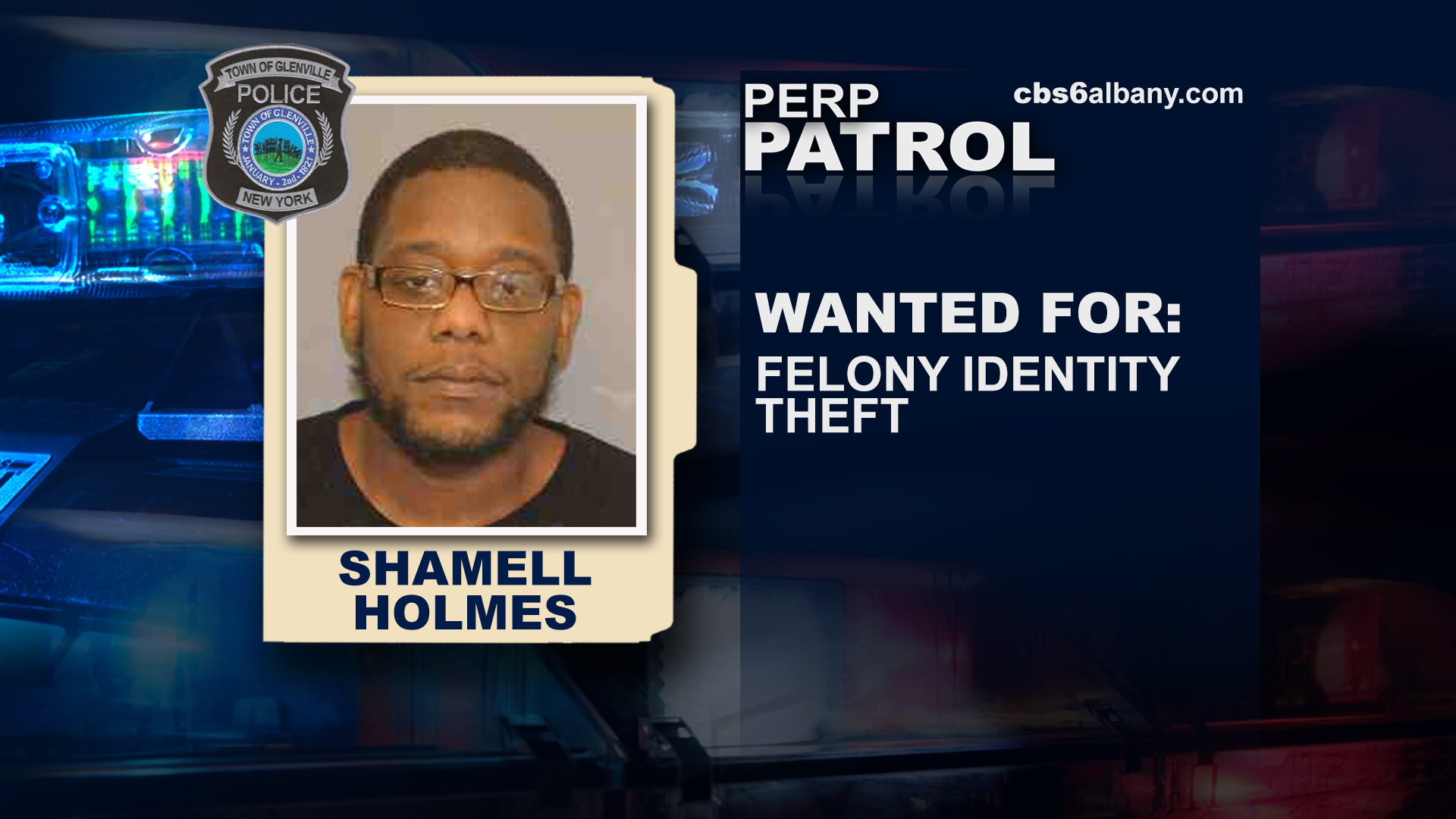 Shamell Holmes:{ } Wanted for identity theft