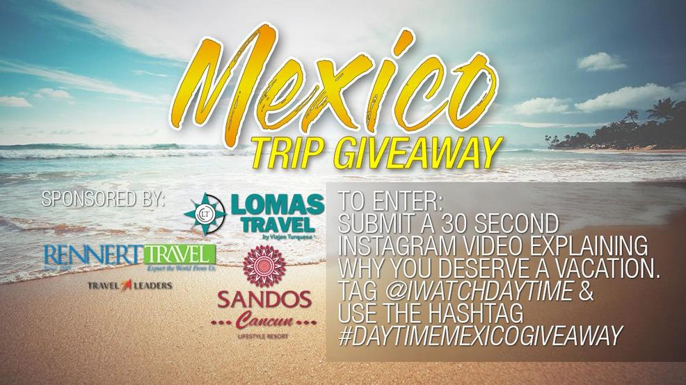 Mexico Trip Giveaway Watch Daytime