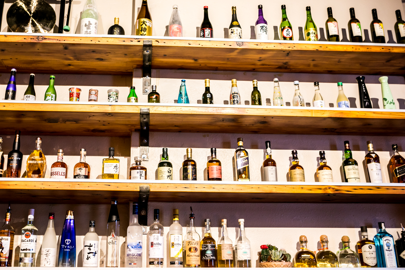The bar includes imported Asian beers and a wide selection of Japanese sake. / Image: Amy Elisabeth Spasoff // Published: 9.26.18<br>