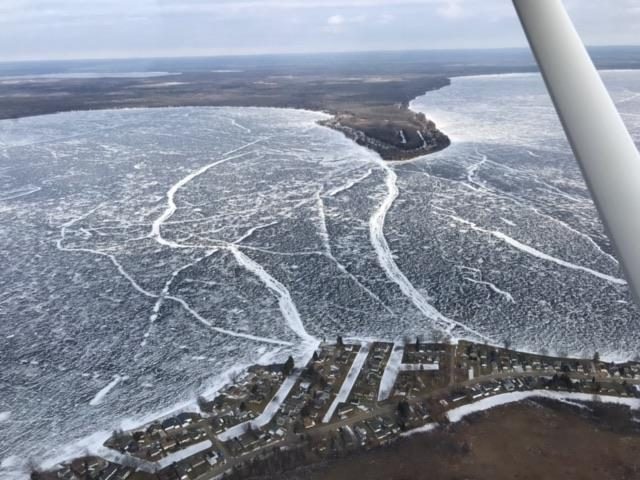 Sheriff warns of pressure cracks on Houghton Lake before Tip-Up-Town. Photo Courtesy: Roscommon County Sheriff's Office