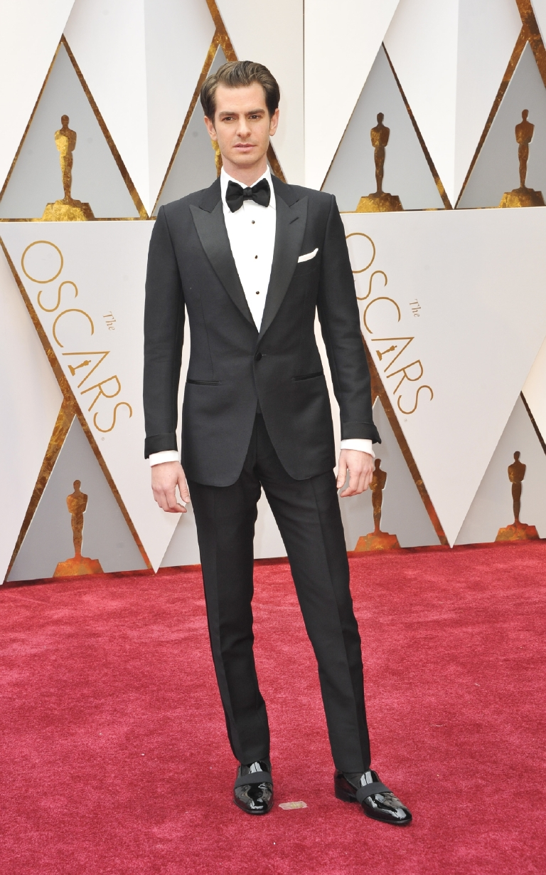 You really can't go wrong with Tom Ford, and Andrew Garfield does the man proud in this sharp and well-cut look. (Image: Apega/WENN.com)