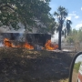 200 acre brush fire in rural Okeechobee County