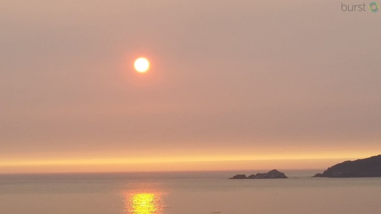 Karla Sinclair shared this smoky scene of Cape Blanco on August 28 via BURST.com/KVAL