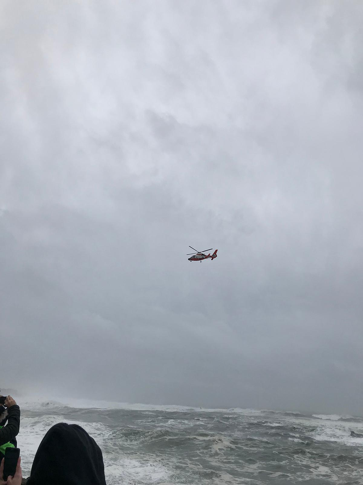 Coast Guard searches for man swept out to sea near Depoe Bay on January 18, 2018 - Oregon State Police photo.jpeg