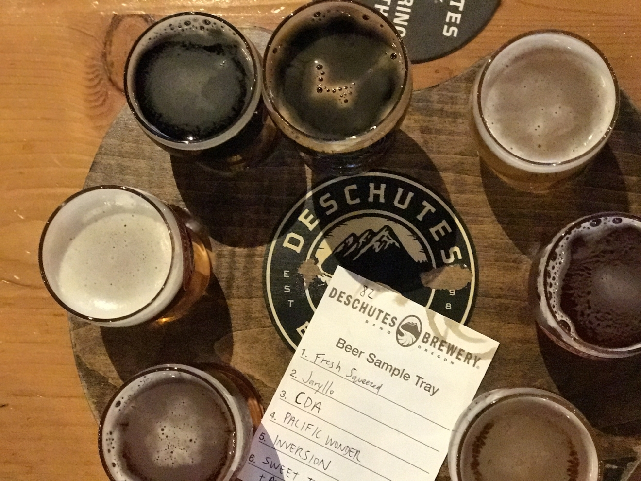 Beer, beer and more beer at Deschutes.                                           (Image: Kate Neidigh)