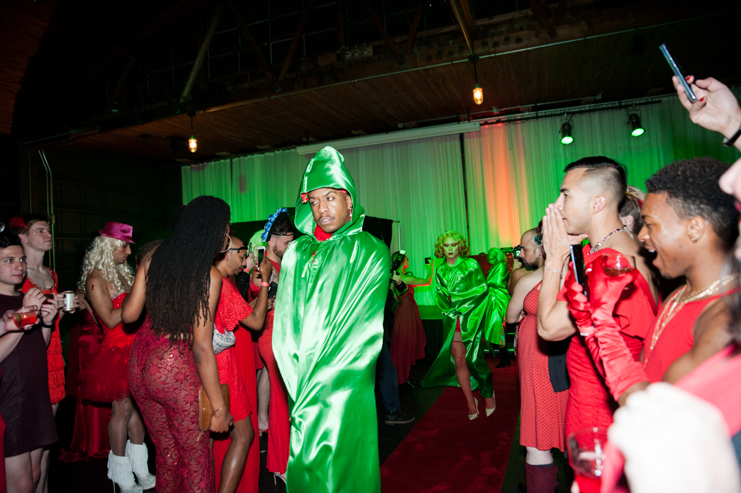 PrideFest's annual Red Dress Party brought out patrons donned in crimson, cardinals and ruby tones - to South Lake Union's event space 415 Westlake. With June being Pride Month, you know the parties are just getting started! (Image: Elizabeth Crook / Seattle Refined){ }