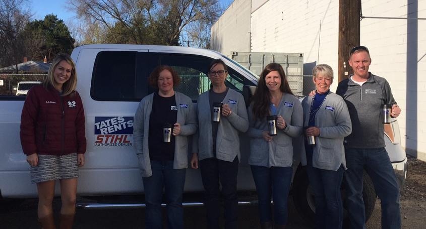 Mugshot Mondays: This week's winner is Tates Rents in Boise! Kelsey Anderson helped deliver free Dutch Bros. Coffee of Boise Idaho and KBOI mugs!Want your business to be next? Enter: http://bit.ly/1UoKo3X