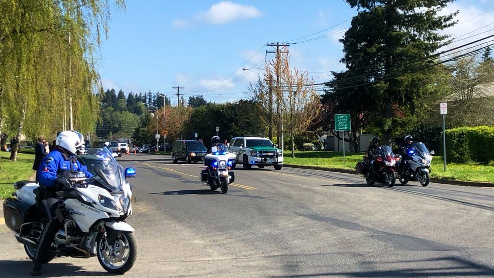 Funeral procession and memorial service for Cowlitz County