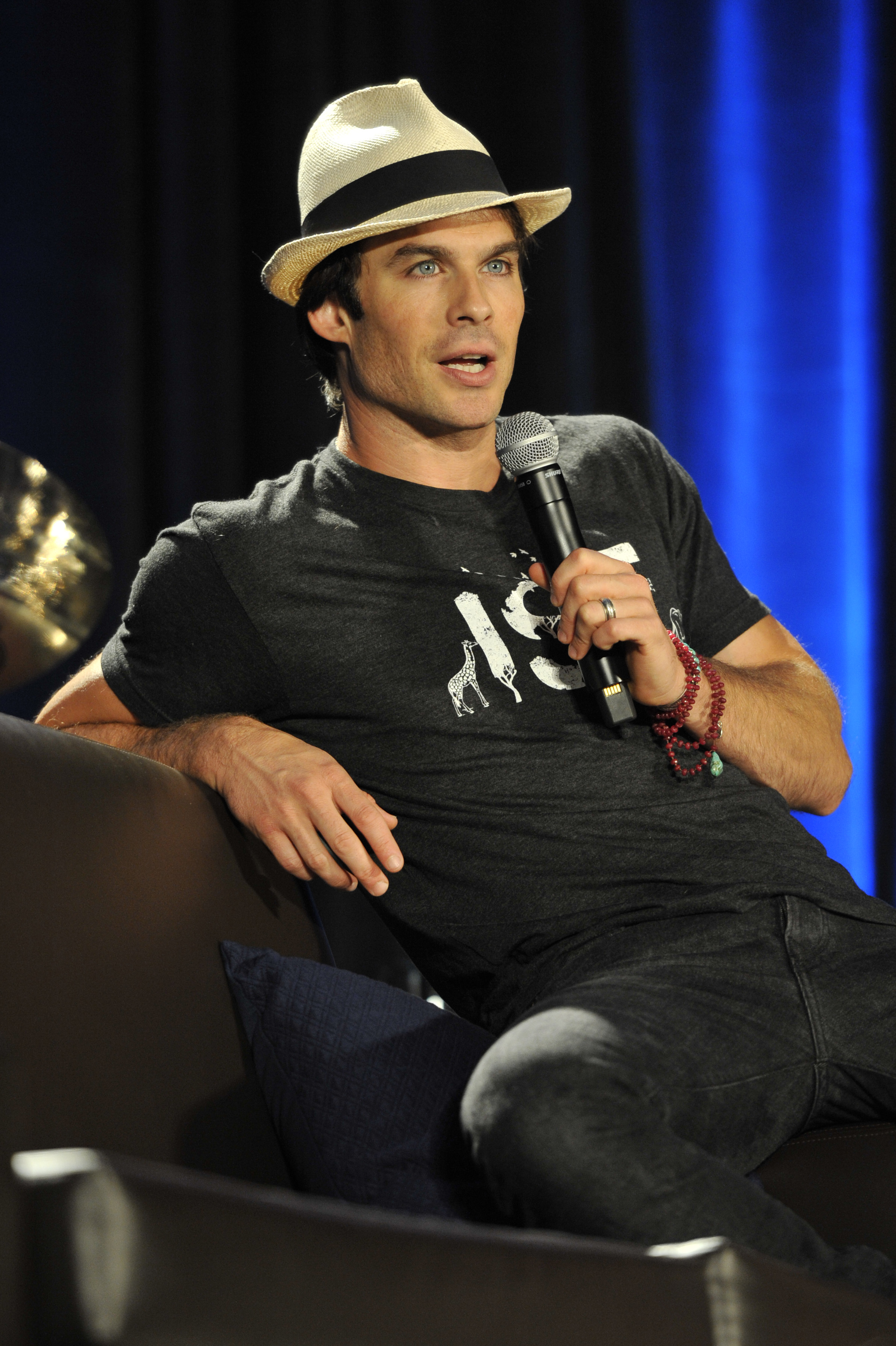 Wizard World Comic Con at the Donald E Stephens Convention Center in Rosemont - Day 3                                    Featuring: Ian Somerhalder                  Where: Rosemont, Illinois, United States                  When: 22 Aug 2015                  Credit: Ray Garbo/WENN.com