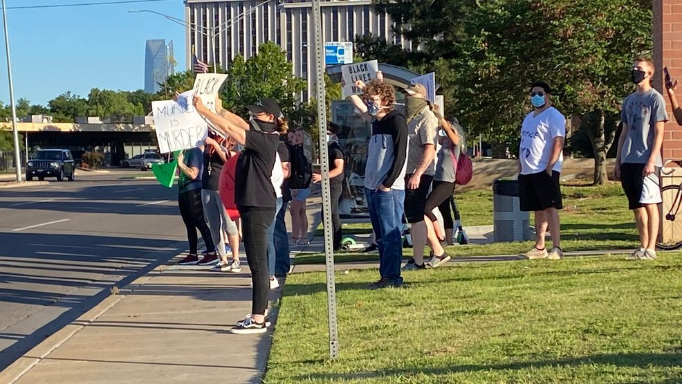 Protesters gather in OKC in response to Floyd's death, 4 arrested