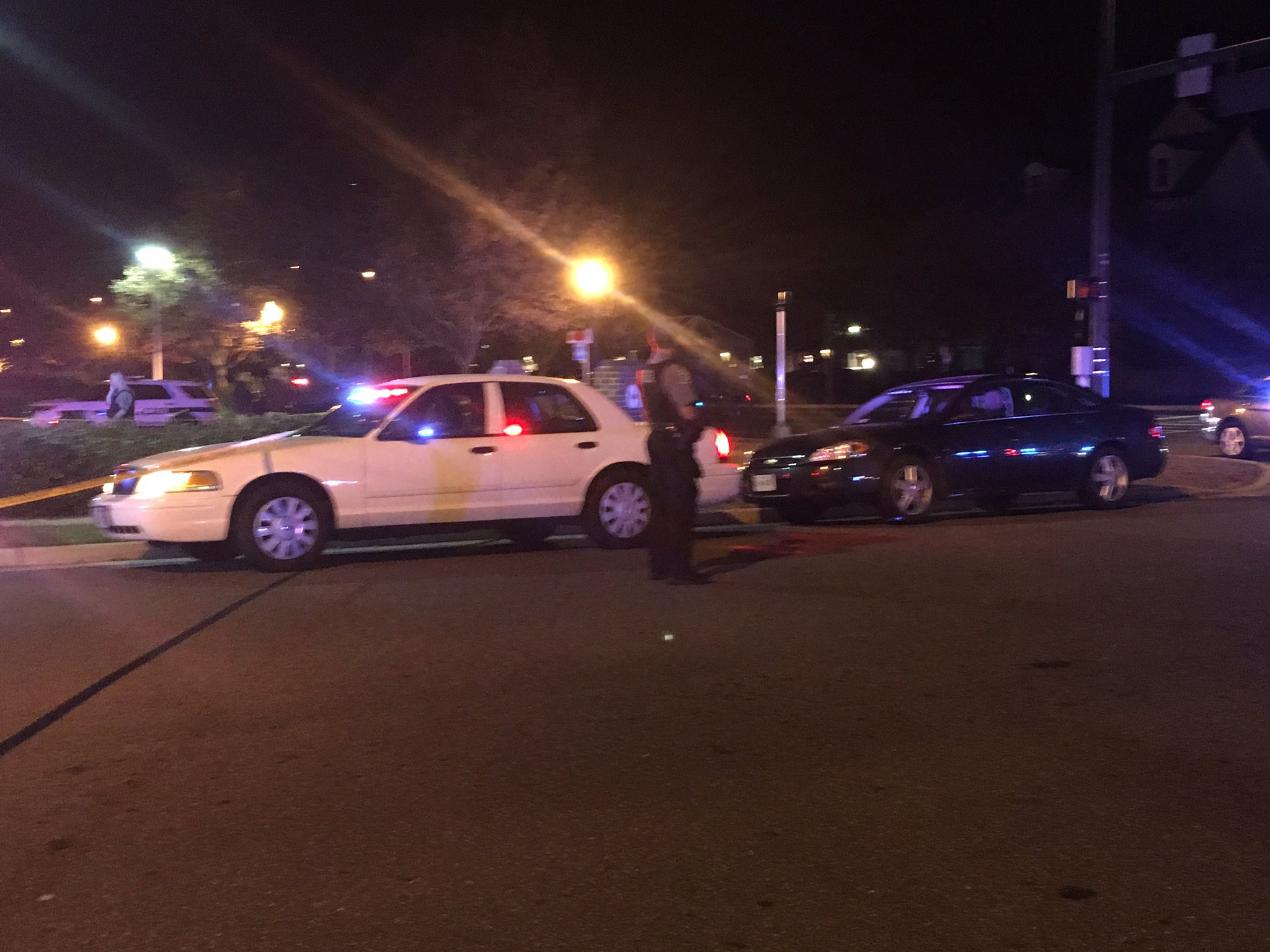 Police are on the scene of a shooting that left two dead and another person seriously injured in Alexandria, Va.  Sunday, Oct. 22, 2017 (Q McCray, ABC7){&amp;nbsp;}<p></p>