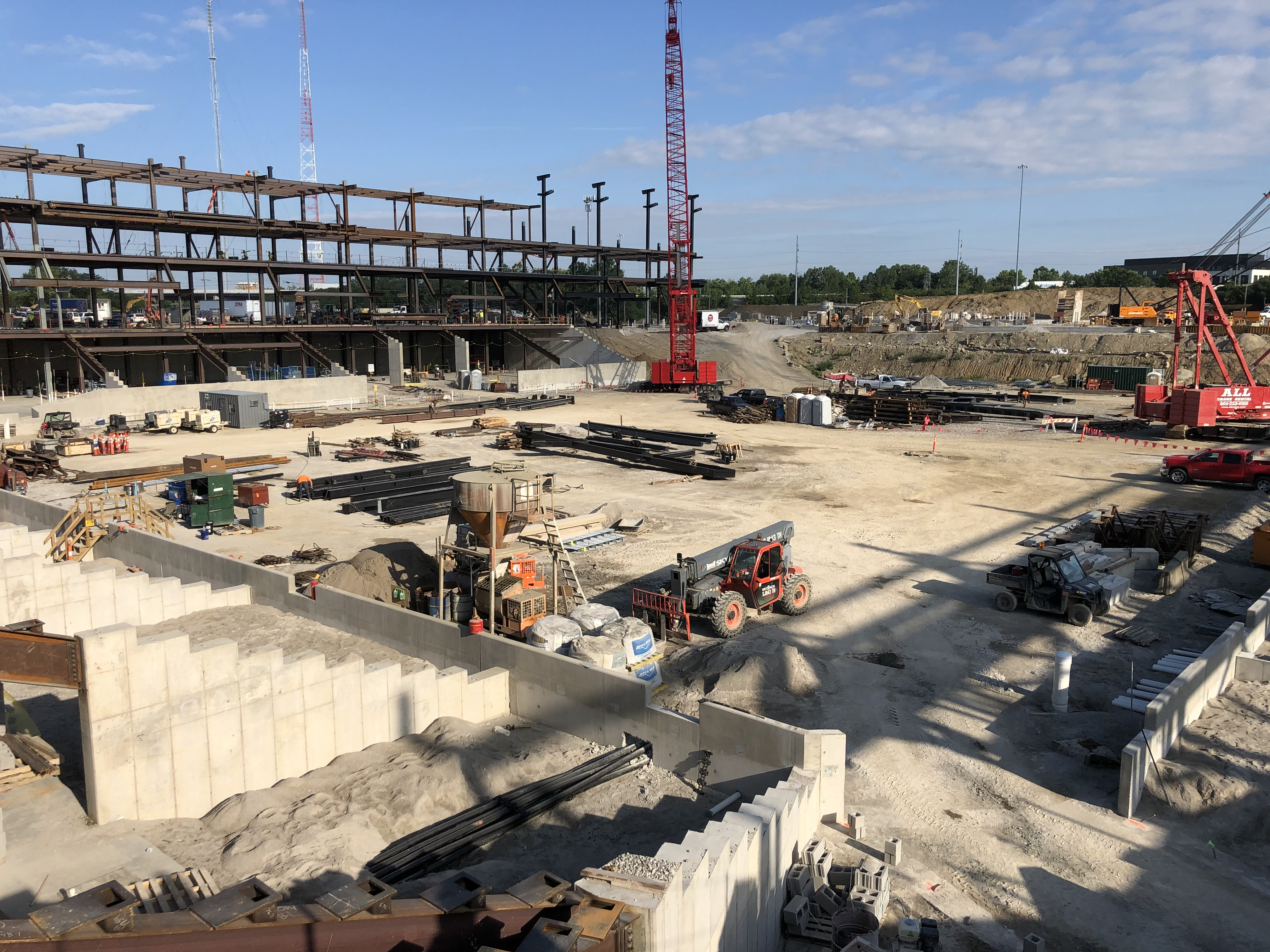 Progress on Columbus Crew SC stadium in the Arena District Aug. 13, 2020. (WSYX/WTTE)