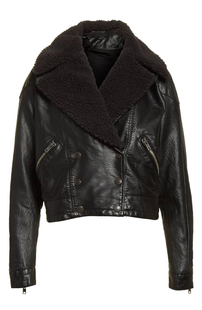 Free People Halen Faux Leather Moto Jacket from Nordstrom // Price: $198 // (Nordstrom // Nordstrom.com)<p></p>