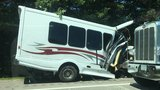 Children injured when bus from Maine crashes into trees off I-95 in NH