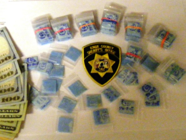 Heroin and money were seized as part of a drug bust Sunday at the Knox County Regional Airport in Owls Head (Knox County Jail)