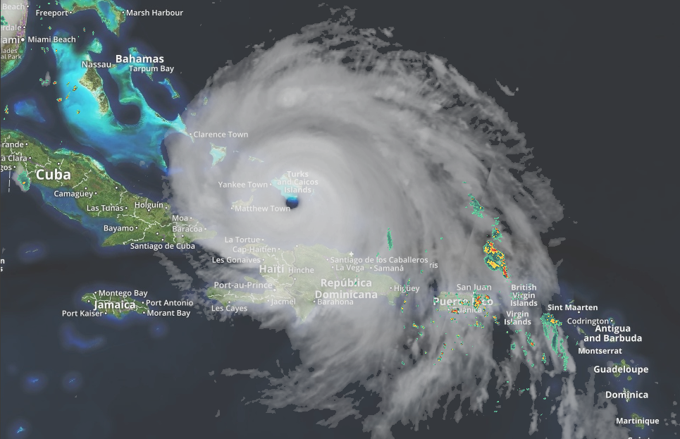 With maximum sustained winds of 185 mph, Hurricane Irma is tied for the second strongest maximum winds of any Atlantic storm. Hurricane Allen of 1980 still holds the number one spot with maximum sustained wind speeds of 190 mph. Irma maintained its maximum wind speed of 185 mph for a world record setting 37 hours, smashing the old record of 24 hours set by Typhoon Haiyan in 2013. (WCIV)
