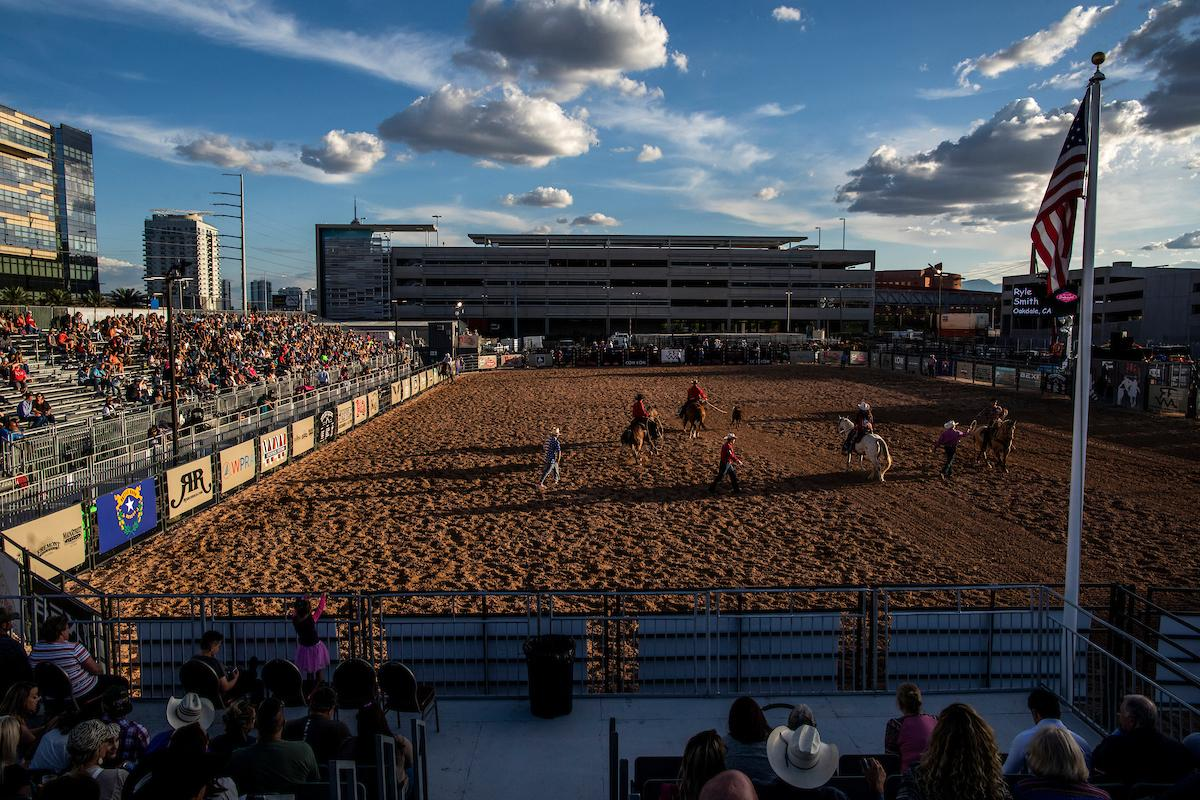 Riders compete during day one of the Las Vegas Days Rodeo at the Plaza Hotel CORE Arena on Friday May 10, 2019. Las Vegas Days, formerly known as Helldorado Days, is an annual cowboy-themed event celebrating Las Vegas? tribute to the Wild West. CREDIT: Joe Buglewicz/Las Vegas News Bureau